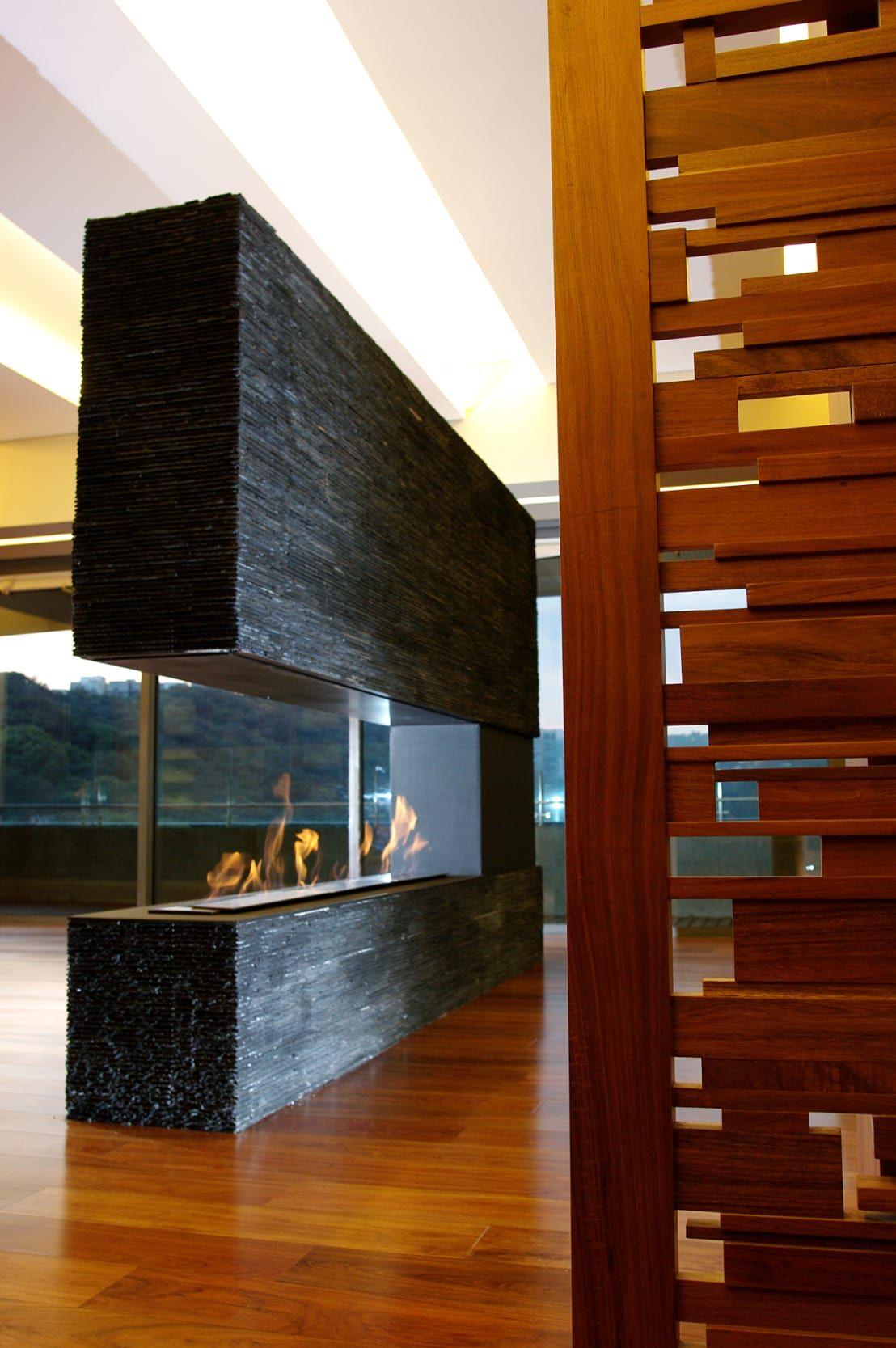 10 chimeneas modernas y espectaculares chimeneas - Chimeneas interiores ...