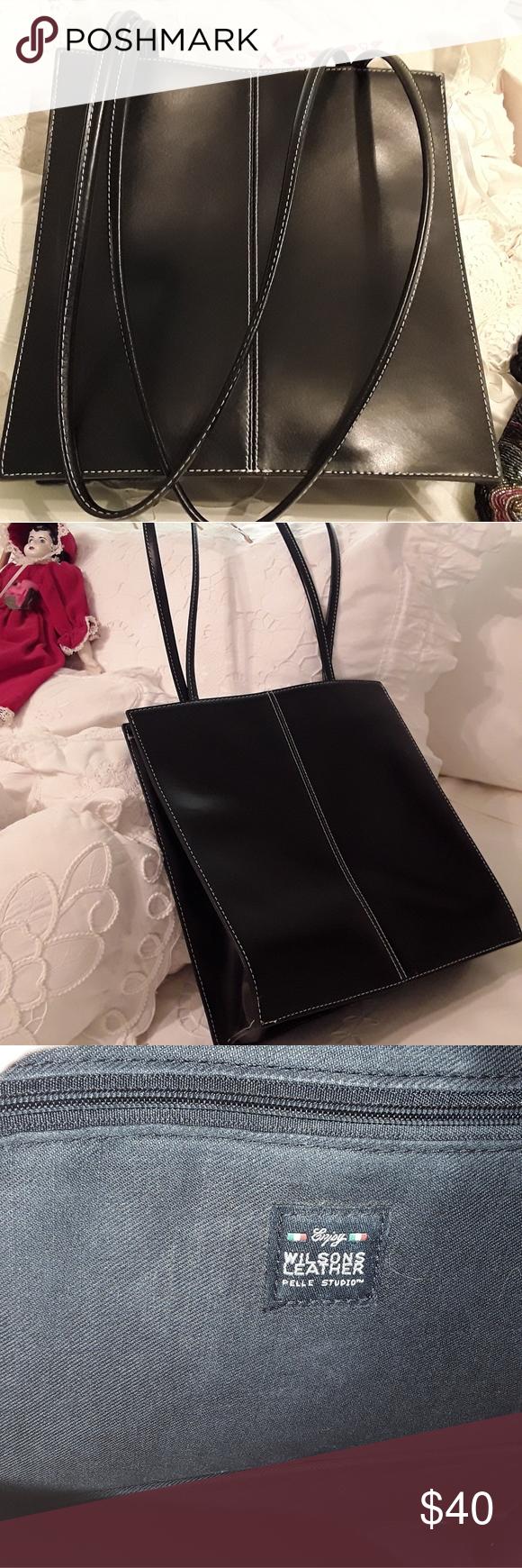 Very elegant ladies wilson leather handbag /tote Leather