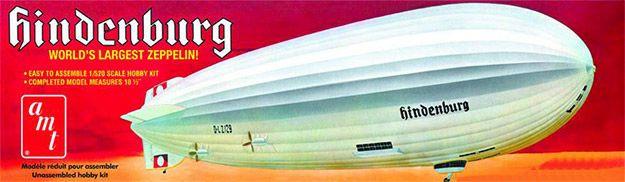 AMT 844 Hindenburg Blimp World largest Zeppelin plastic