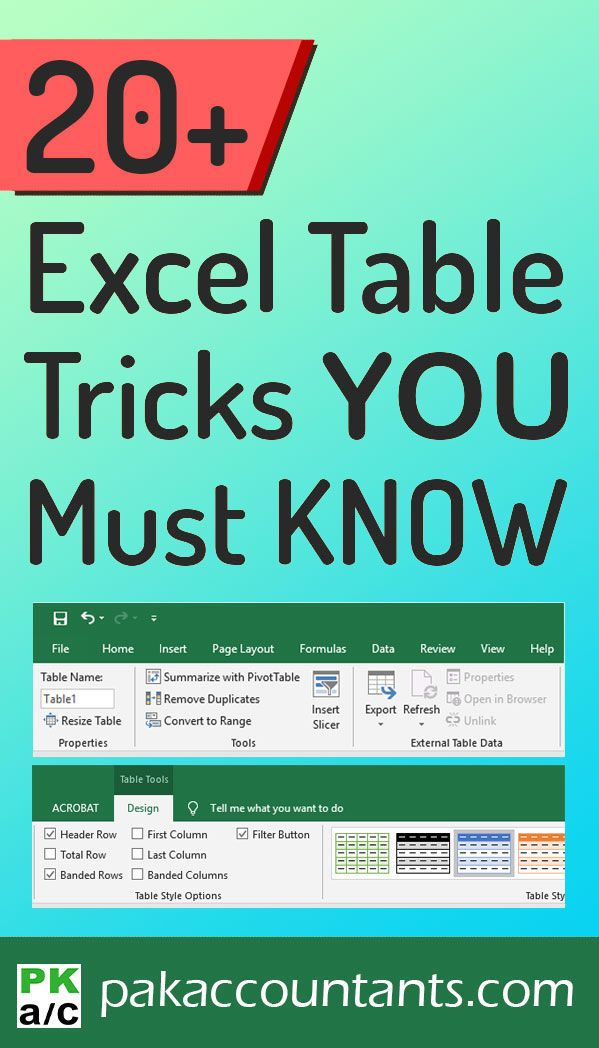 In this jam packed video with over 20 tips and tricks you will learn why Excel tables are so amazing and why you must use them often! For more free tips, tricks techniques, tutorials, templates and resources visit: pakaccountants.com/excel/