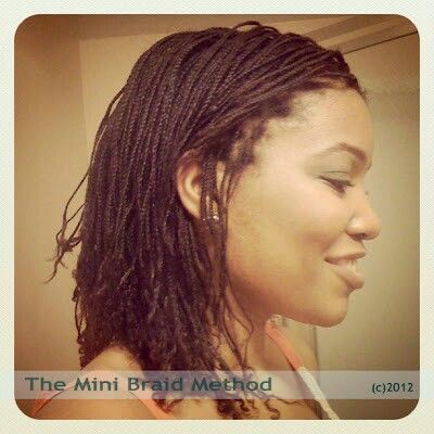 Mini Braids Natural Hair Braids Natural Hair Styles Twist Braid Hairstyles