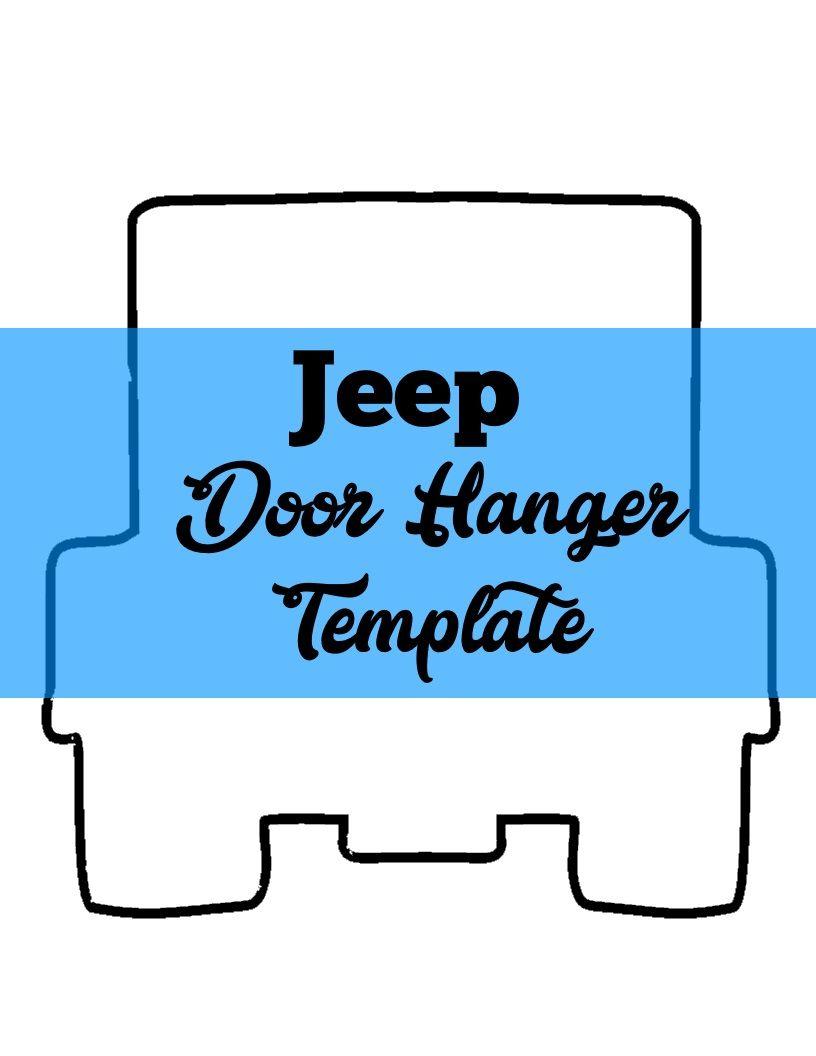JEEP Door Hanger TEMPLATE | Door Hanger Templates ...