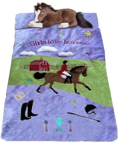 Hunter Horse Plush Quilt Animal Pillows Pony Party