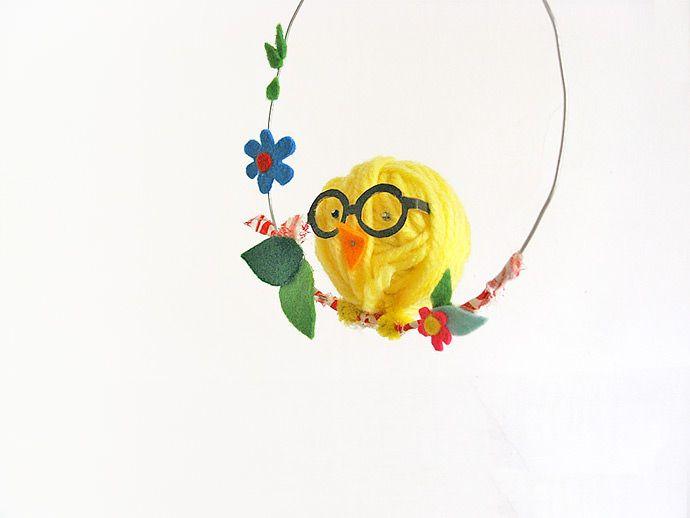 DIY Swinging Easter Chick | Handmade Charlotte