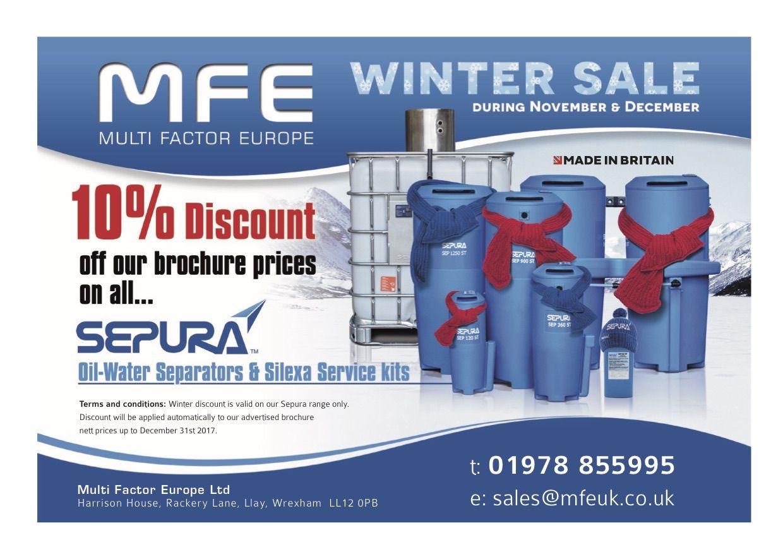2017 Winter Sale MFE. Winter sale, Oil water