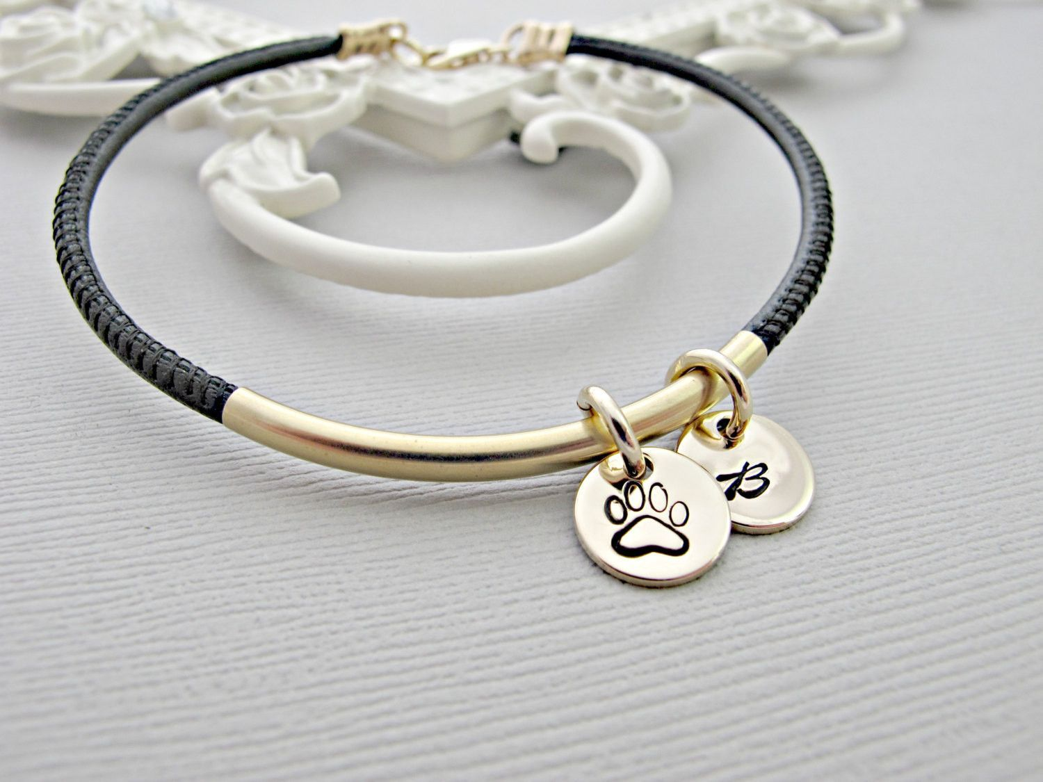 Memorial Bracelet Pet Remembrance Jewelry Loss Of Dog Personalized Paw Print