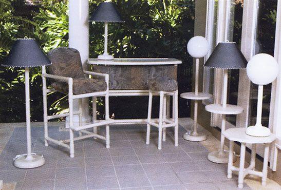 Pvc pipe garden bar high chair 2 pvc pinterest for Pvc pipe furniture