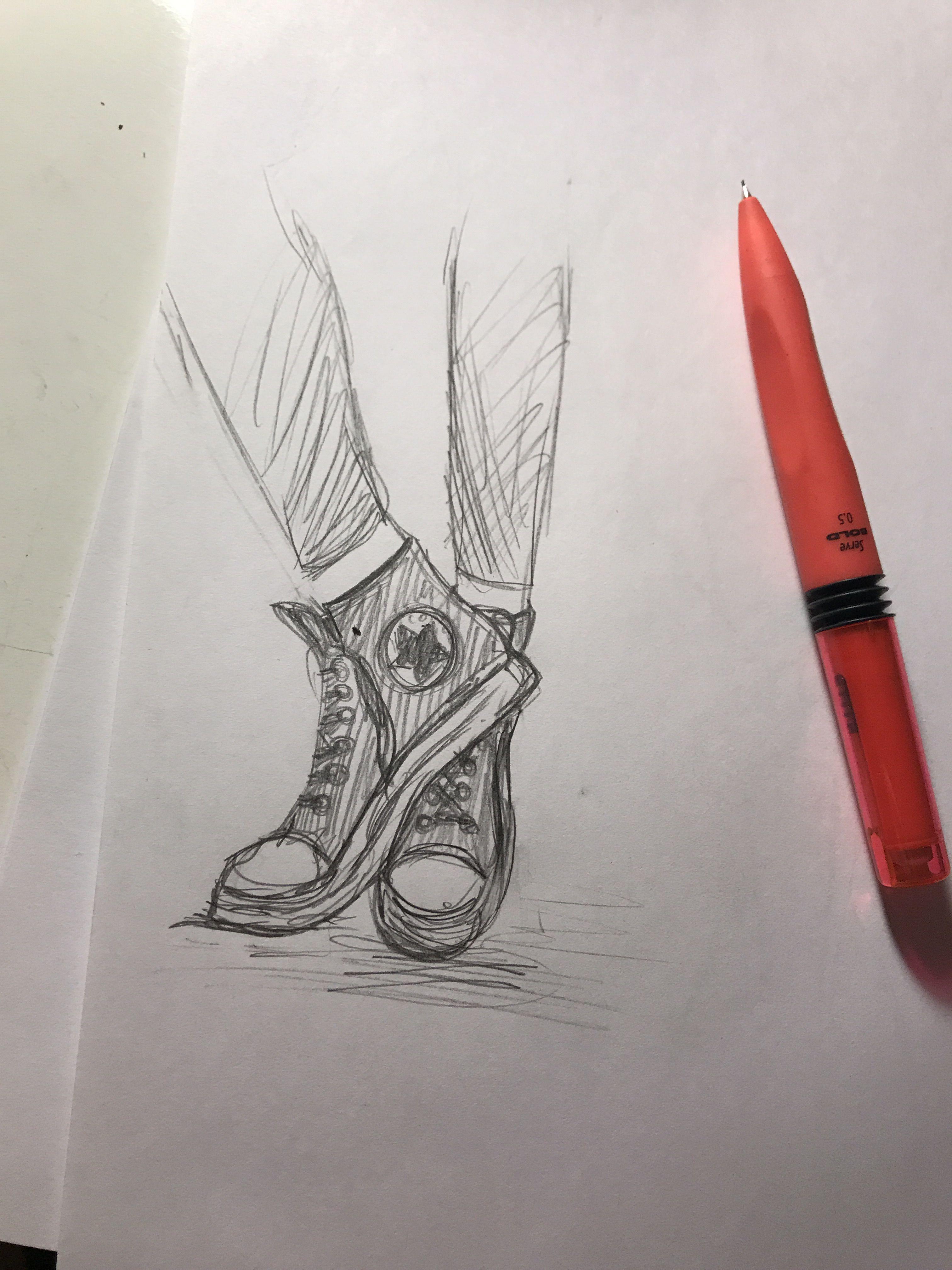 converse art shoes drawing Çizimler, Çizim