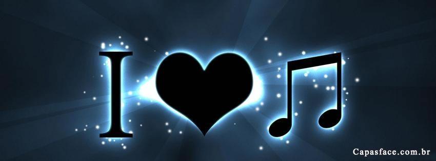 Capas Para Facebook De Eu Amo Música Fondos Pinterest Music