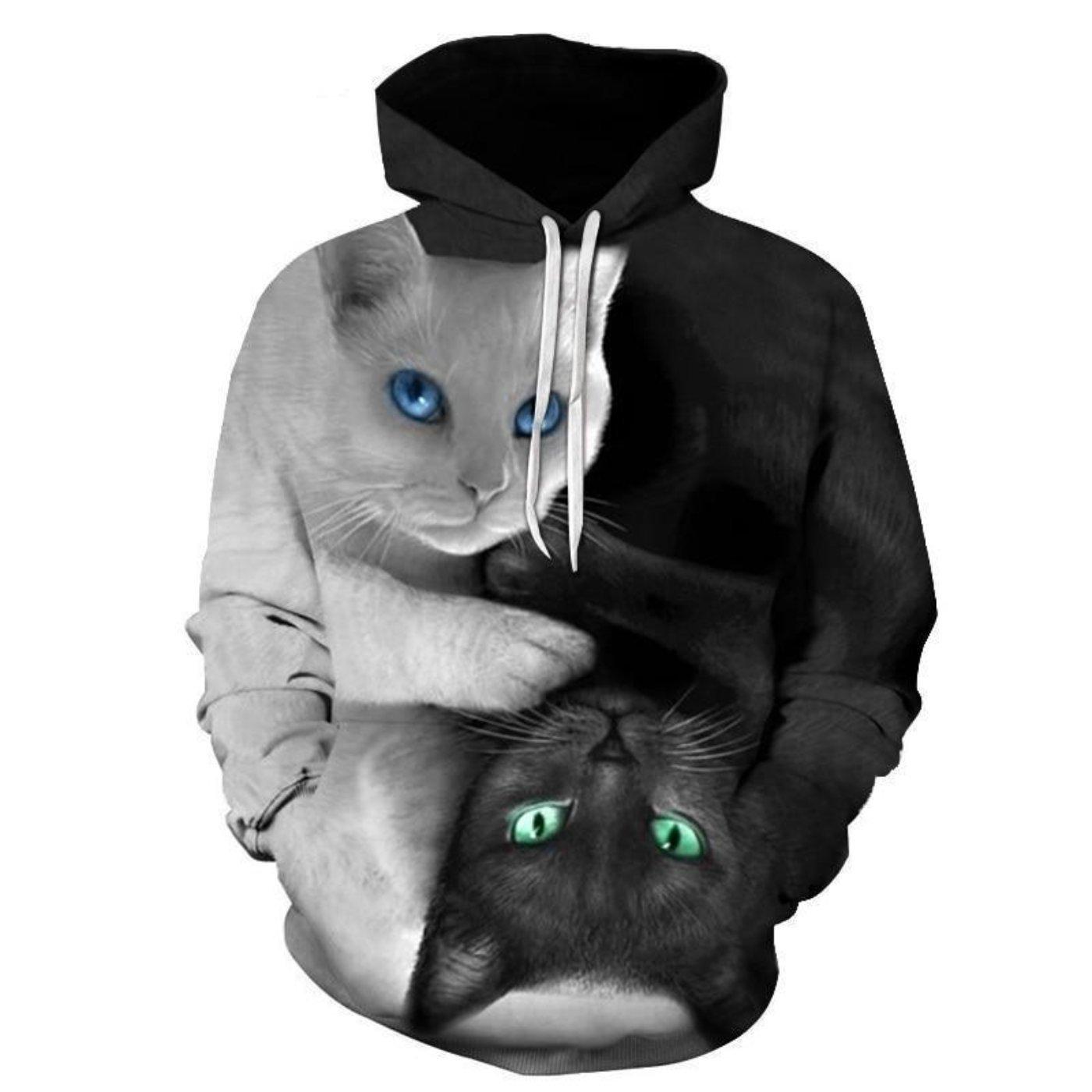 Cat 3d Hooded Sweatshirt Hoodies Men Sweatshirts Hoodie Hooded Sweatshirts [ 1400 x 1400 Pixel ]