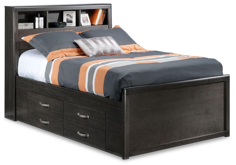 Kids Furniture Dessy Junior Full Storage Bed Charcoal Full Bed With Storage Storage Bed Bed Storage