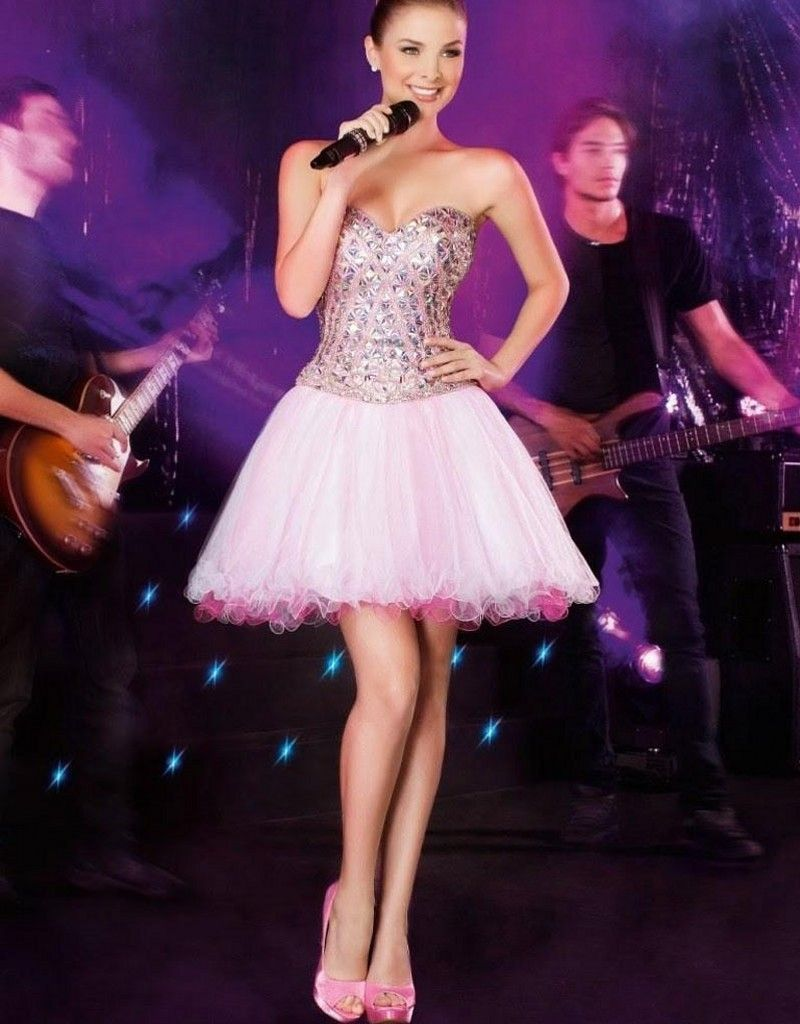 Click to buy ucuc pink prom dresses long beaded crystal sweetheart off
