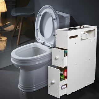 Bathroom Floor Cabinets, Bathroom Toilet Slim Floor Cabinet Narrow Storage Cupboard With Drawers