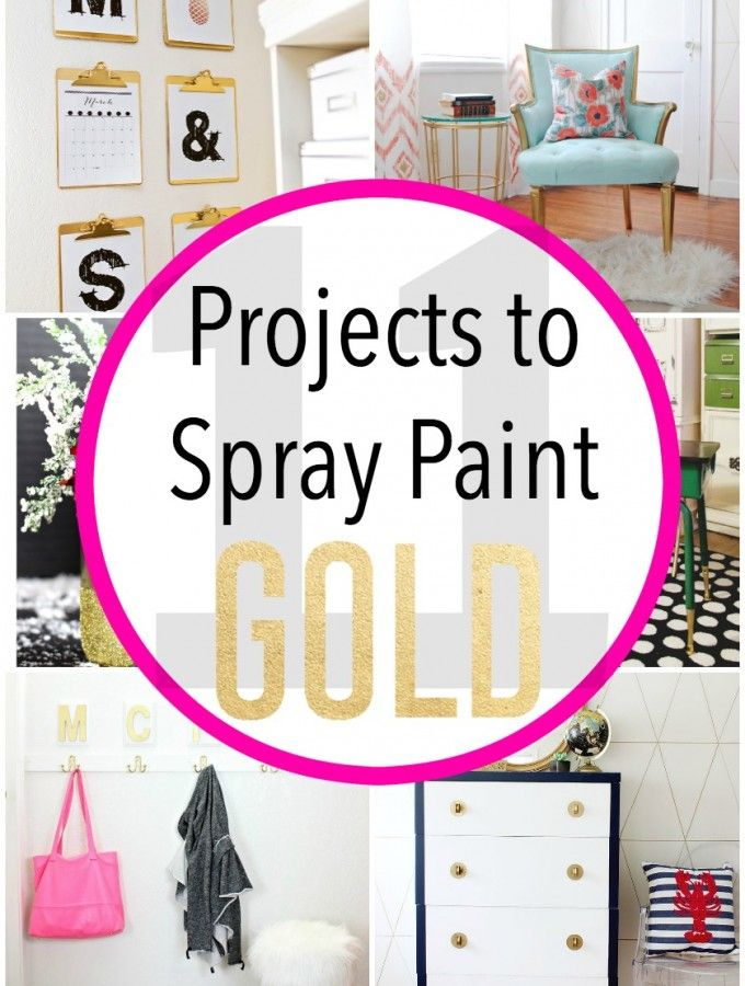 11 Projects to Spray Paint Gold