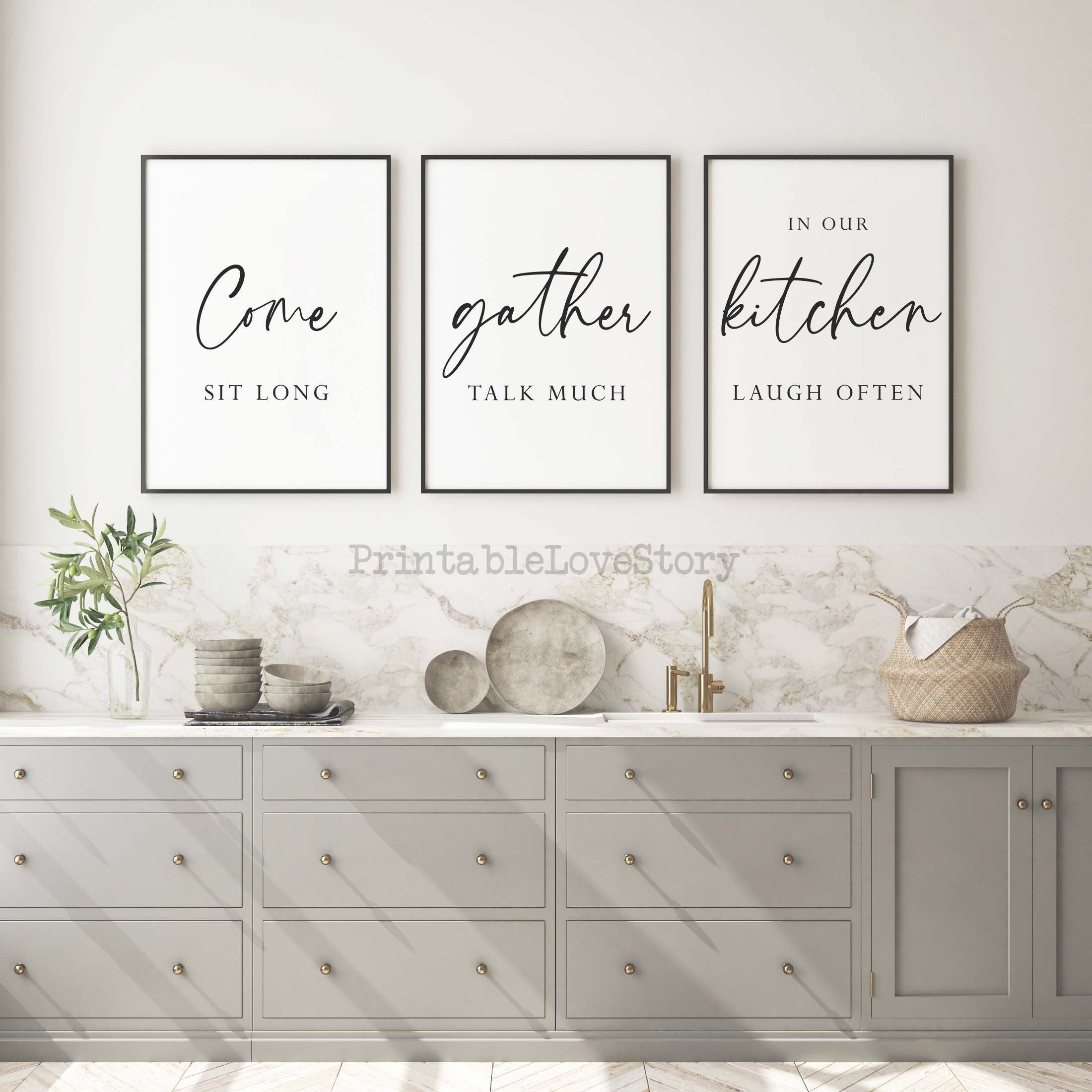 Kitchen Wall Decorkitchen Printable Decorkitchen Signscome Etsy Family Wall Art Family Wall Decor Thanksgiving Wall Decor