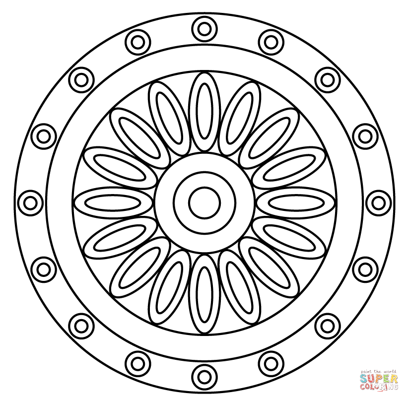 Flower of Life Mandala coloring page | Free Printable Coloring Pages ...