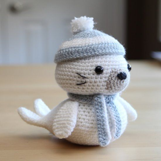 Stitch Amigurumi Crochet Pattern : Make this cute little seal pup with an easy to follow Free ...