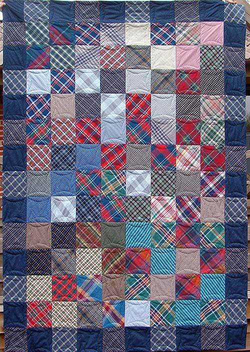Plaid Shirt Quilt Men S Shirt And Clothing Memory Quilts