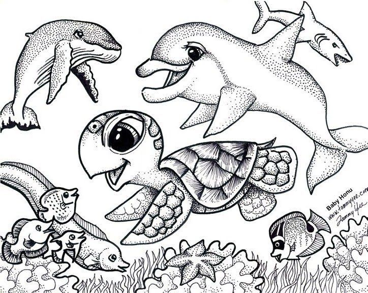Sea turtle coloring pages under the sea | custom shoes | Pinterest