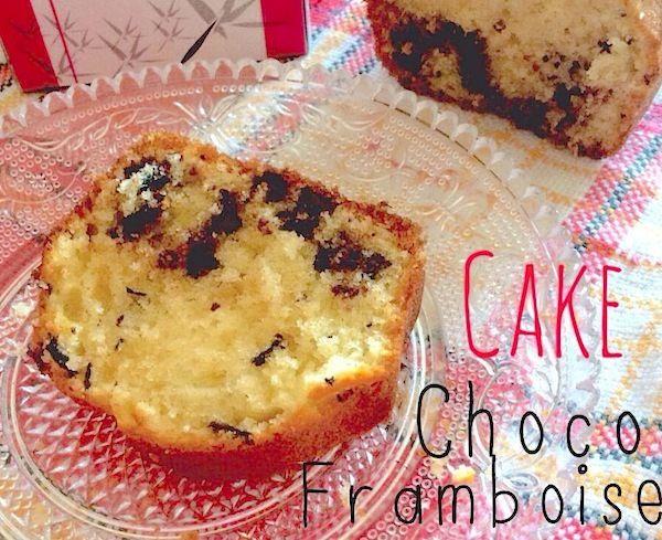 Cake aux pépites de chocolat et au thé framboise