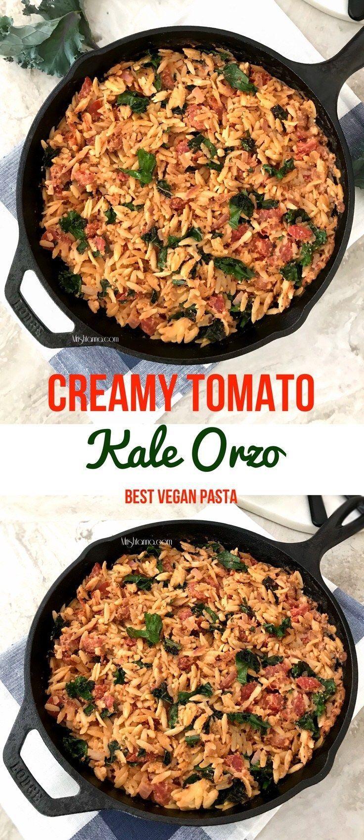 Creamy Tomato Kale Orzo