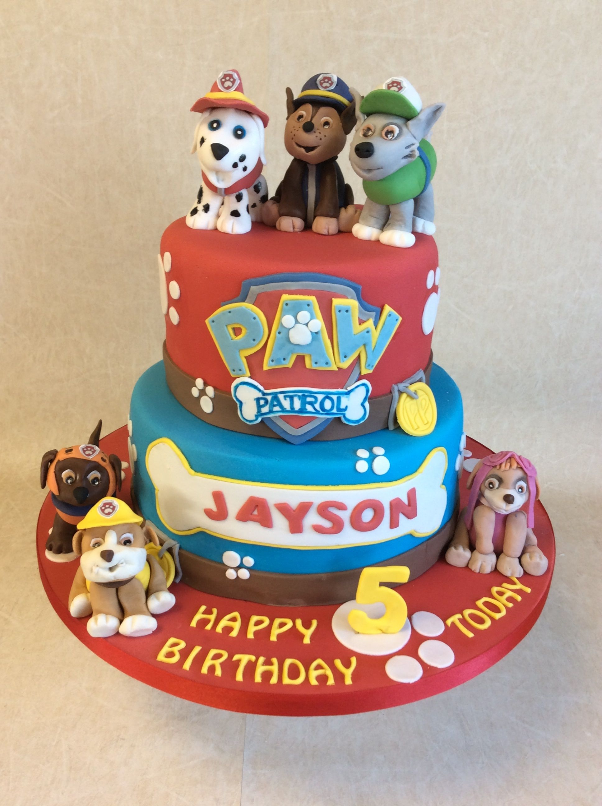 paw patrol cake birthday