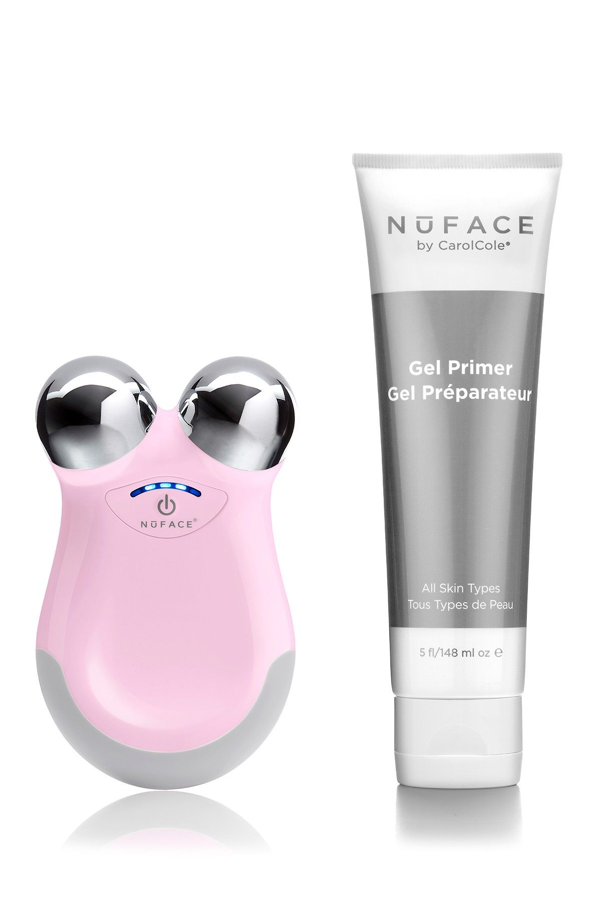 2-Piece ReFreshed NuFACE Mini Petal Pink Device Set - Limited Edition by NuFACE on @HauteLook