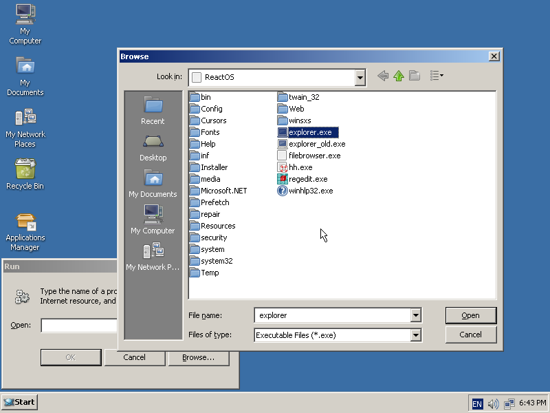 Windows XP's comdlg32 can now be used inside of ReactOS and
