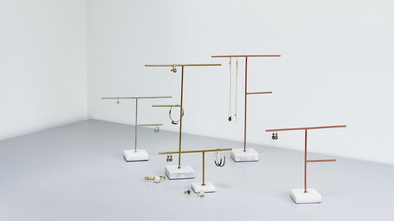 c84bc4ae0 Buy the Large Copper & Marble Jewellery Stand at Oliver Bonas. Enjoy free  UK standard delivery for orders over £50.