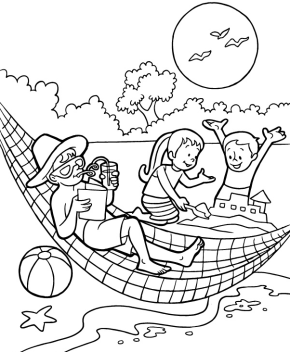 Summer Coloring Page & Coloring Book  Summer coloring pages
