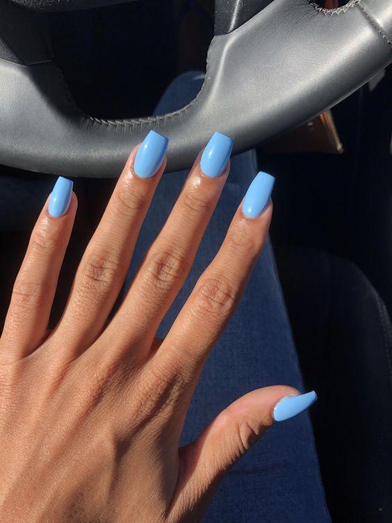 25 56 Elegantes Disenos Y Colores De Unas De Ataud Acrilico Para La Primavera Acrilico Ataud In 2020 Blue Acrylic Nails Pretty Acrylic Nails Short Acrylic Nails