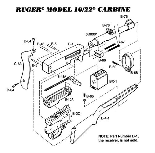 ruger 10  22 carbine exploded view