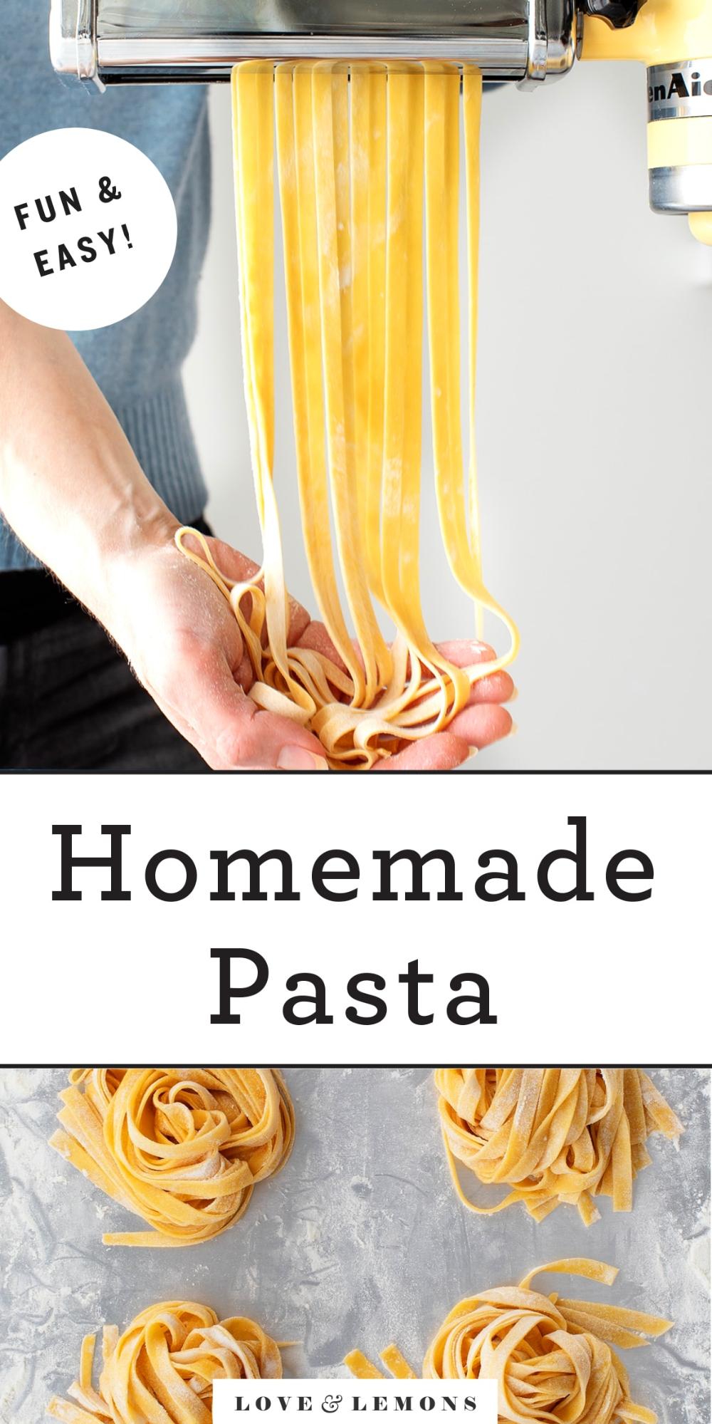 Homemade Pasta Love And Lemons Recipe In 2021 Homemade Pasta Recipe Easy Homemade Pasta Homemade Pasta