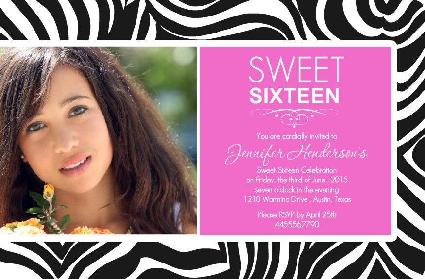 Nice Sweet 16 Birthday Invitations Ideas | FREE Printable Invitation ...