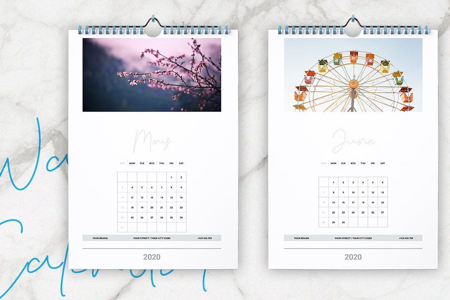 Wall Calendar 2020 Layout In 2020 Wall Calendar Unique Layout Grid Layouts
