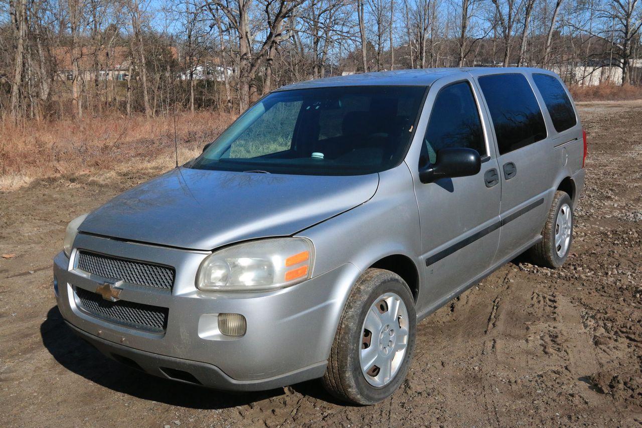2008 Chevrolet Uplander 3 9l V6 Vin 1gndv23w28d181418 Having Automatic Transmission Cloth Interior Am Fm In 2020 Chevrolet Uplander Auction Automatic Transmission