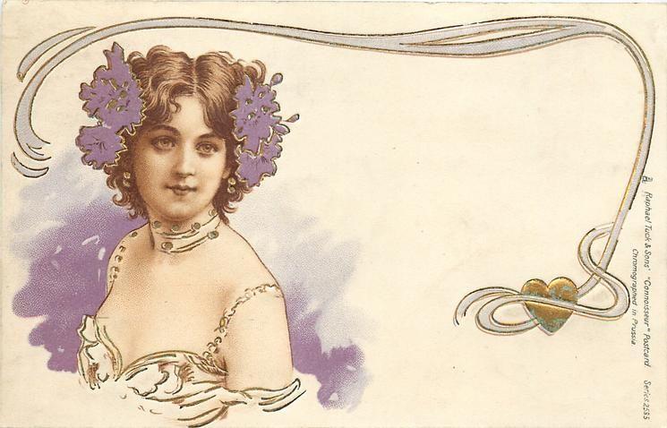 1903 Art Nouveau Lady Label