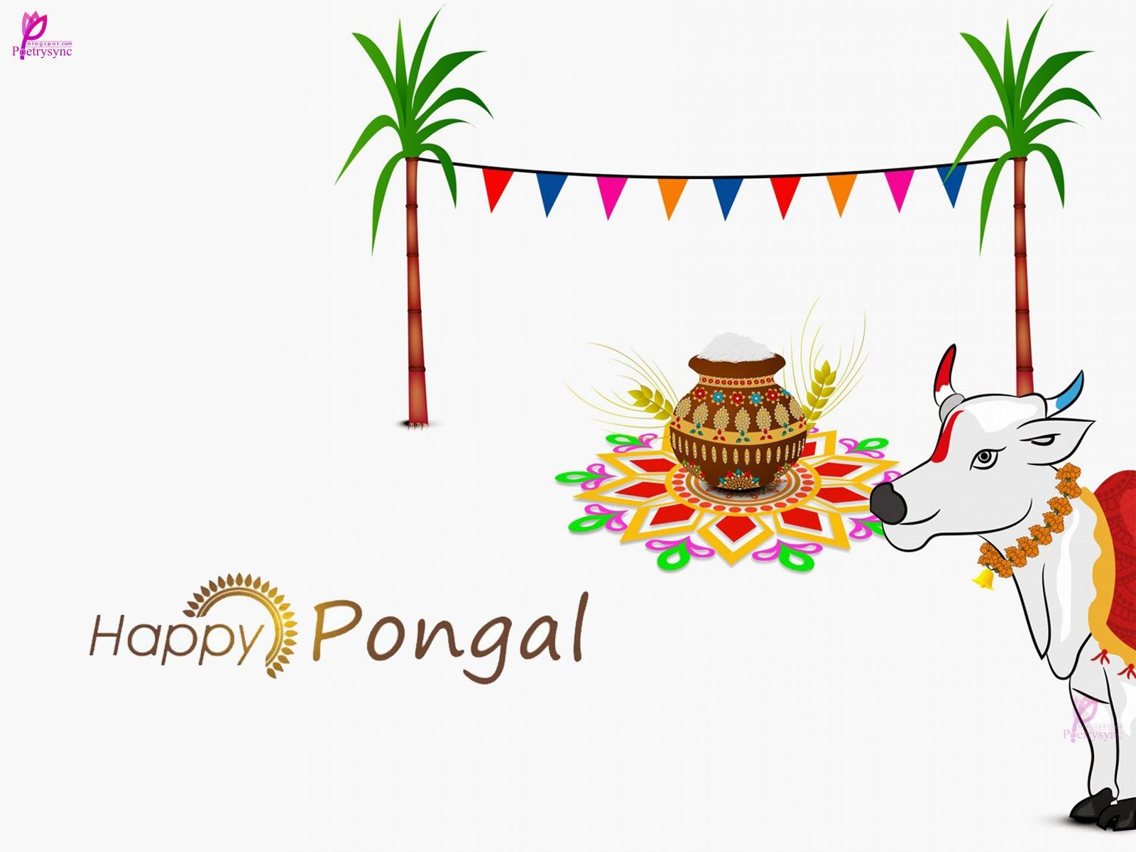 Beautiful picture of pongal festival harvest celebration happy beautiful picture of pongal festival harvest celebration happy pongal festival season pongal cards with pongal sms kristyandbryce Images