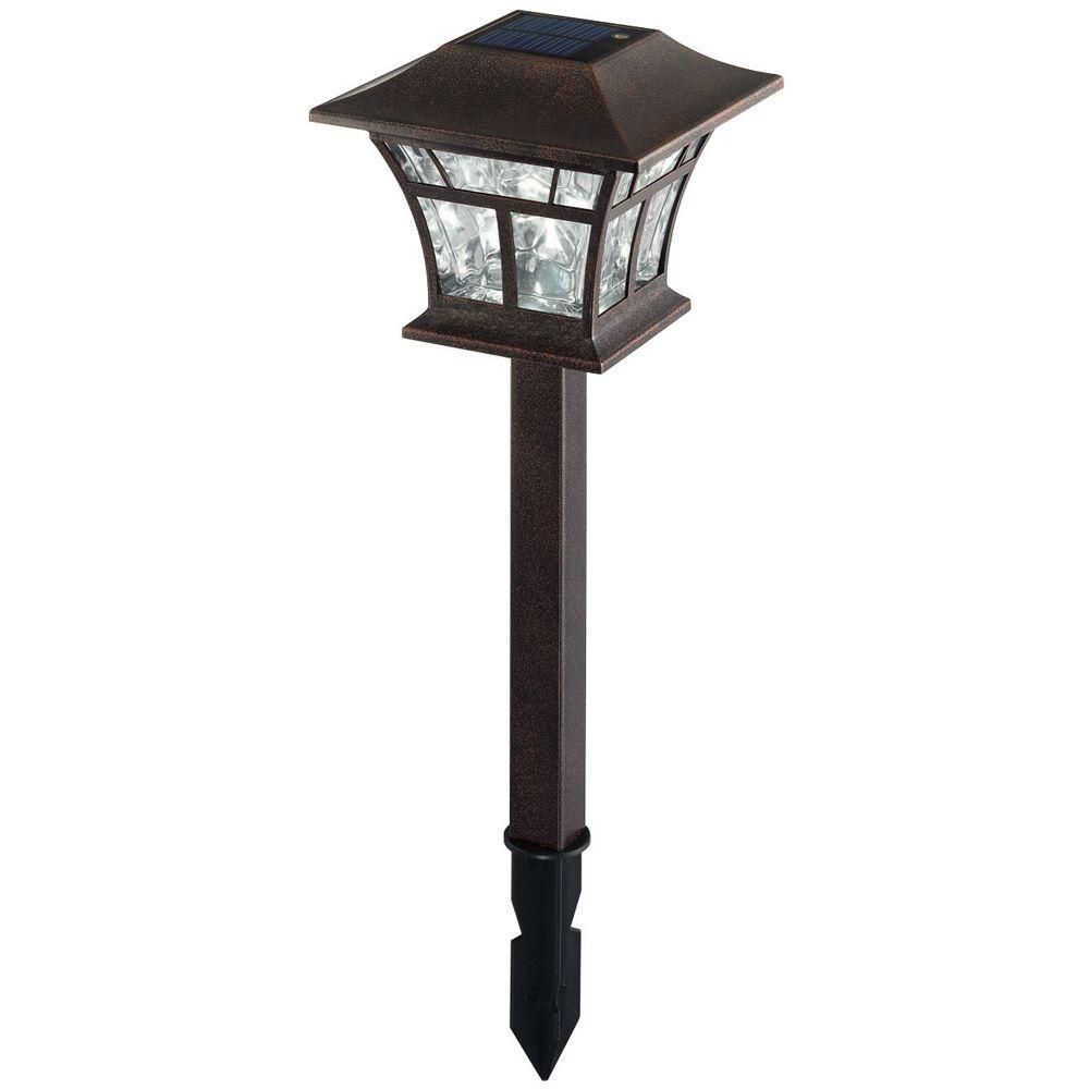 Hampton Bay Pathway Lights New Hampton Bay Solar Powered Led Flemish Copper Mission Path Lights 4 Design Decoration