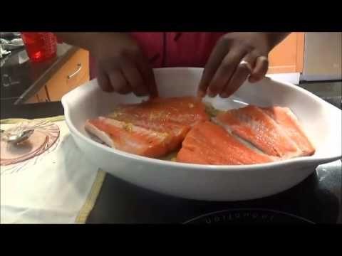 receita, tranches de salmão com mostarda