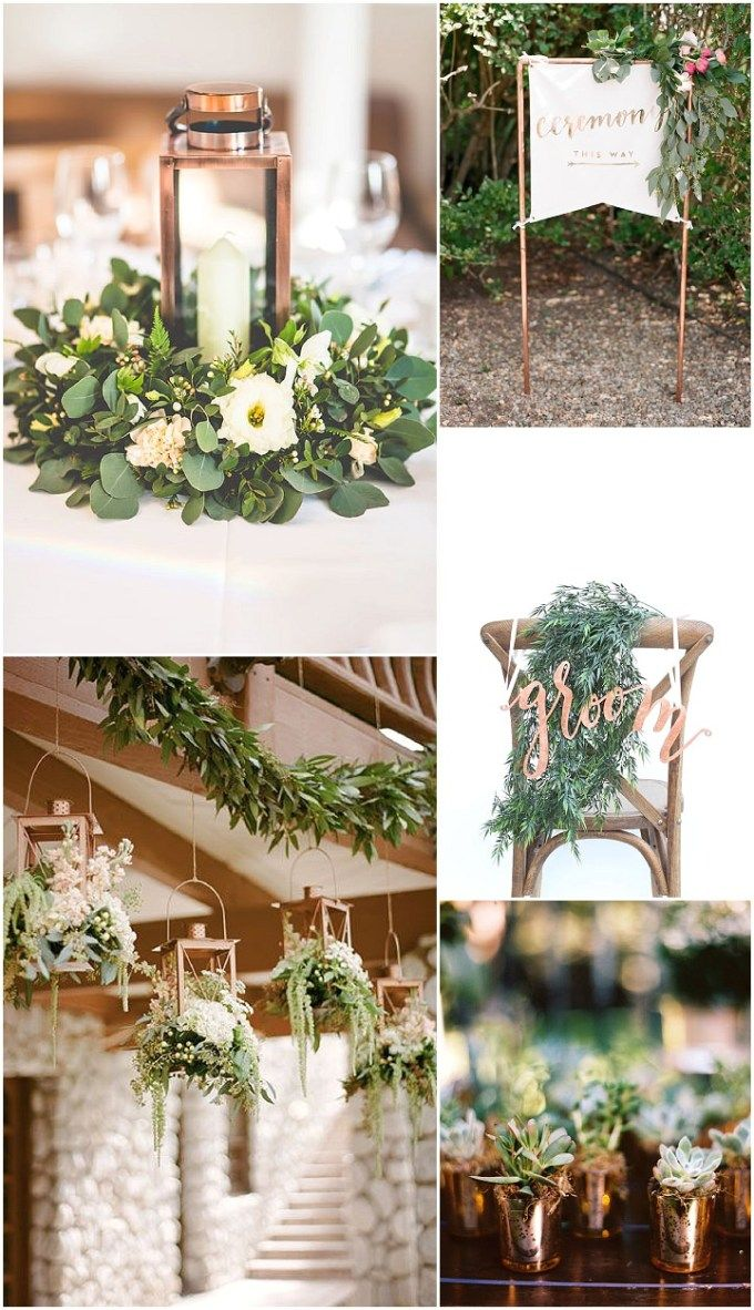 Ideas and Inspiration for your Copper Theme Wedding in