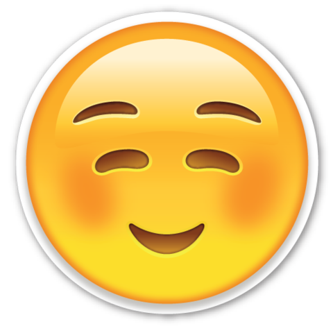 White Smiling Face | EmojiStickers.com | reklam | Pinterest ...