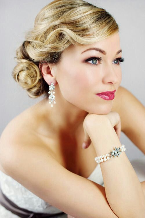 Pin By Malinda Woods On Hair Styles For Wedding And Prom Bridal Hair Vintage Wedding Hair Hollywood Glamour Hair