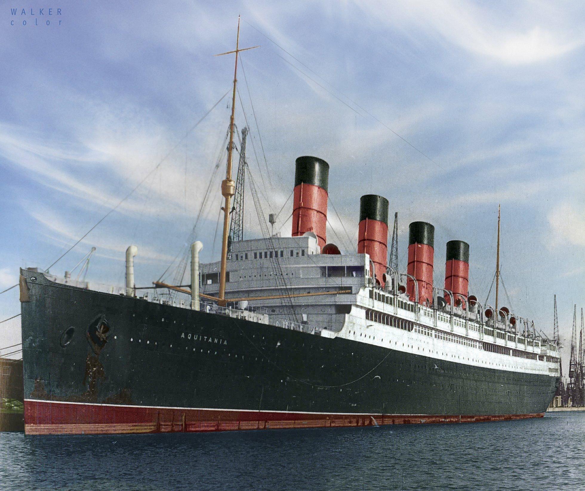 Rms Aquitania Cunard Line. Ocean Liners Sailing Ships