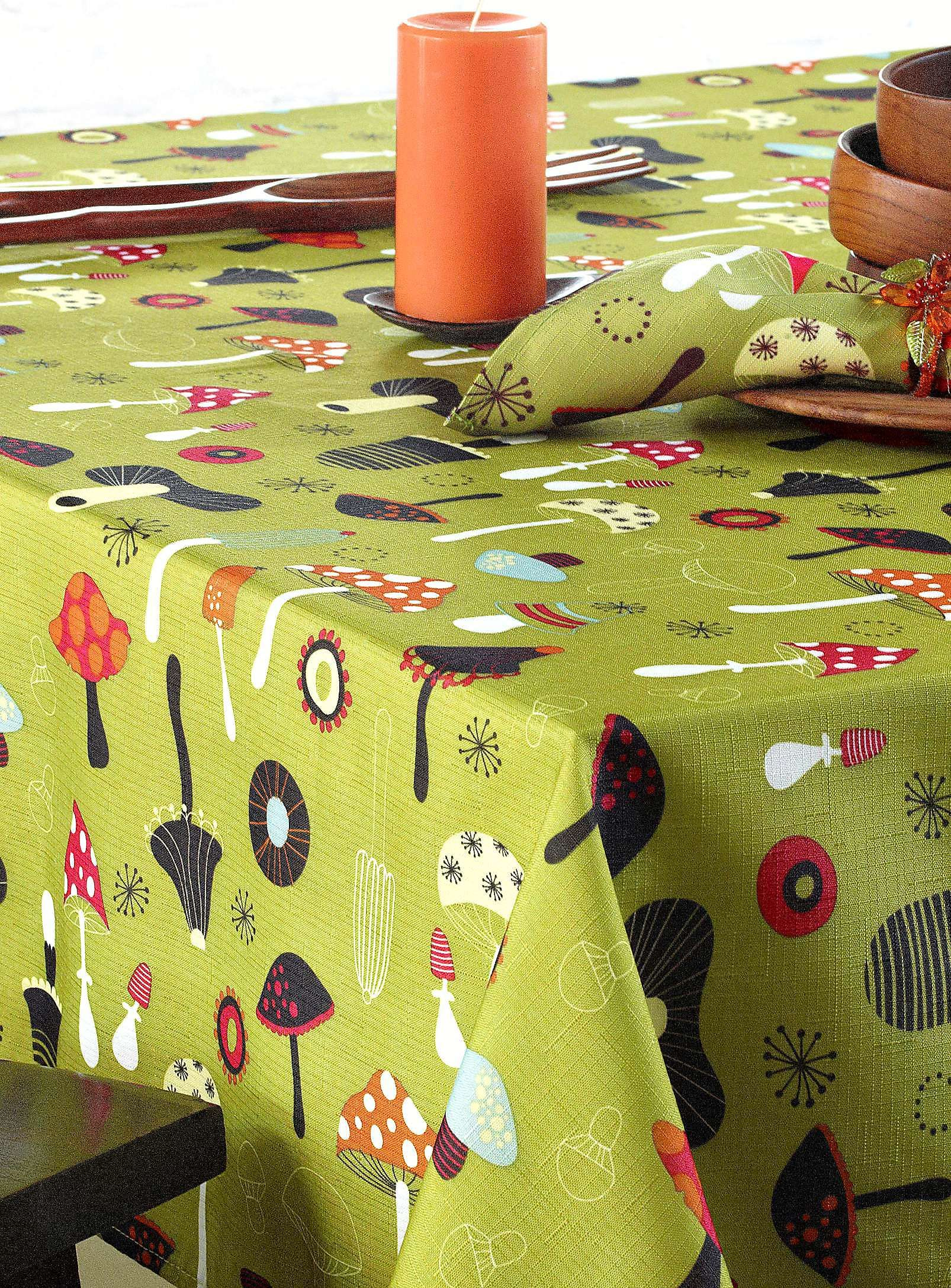 Gentil Funky Mushroom Tablecloth   Tablecloths | Simons