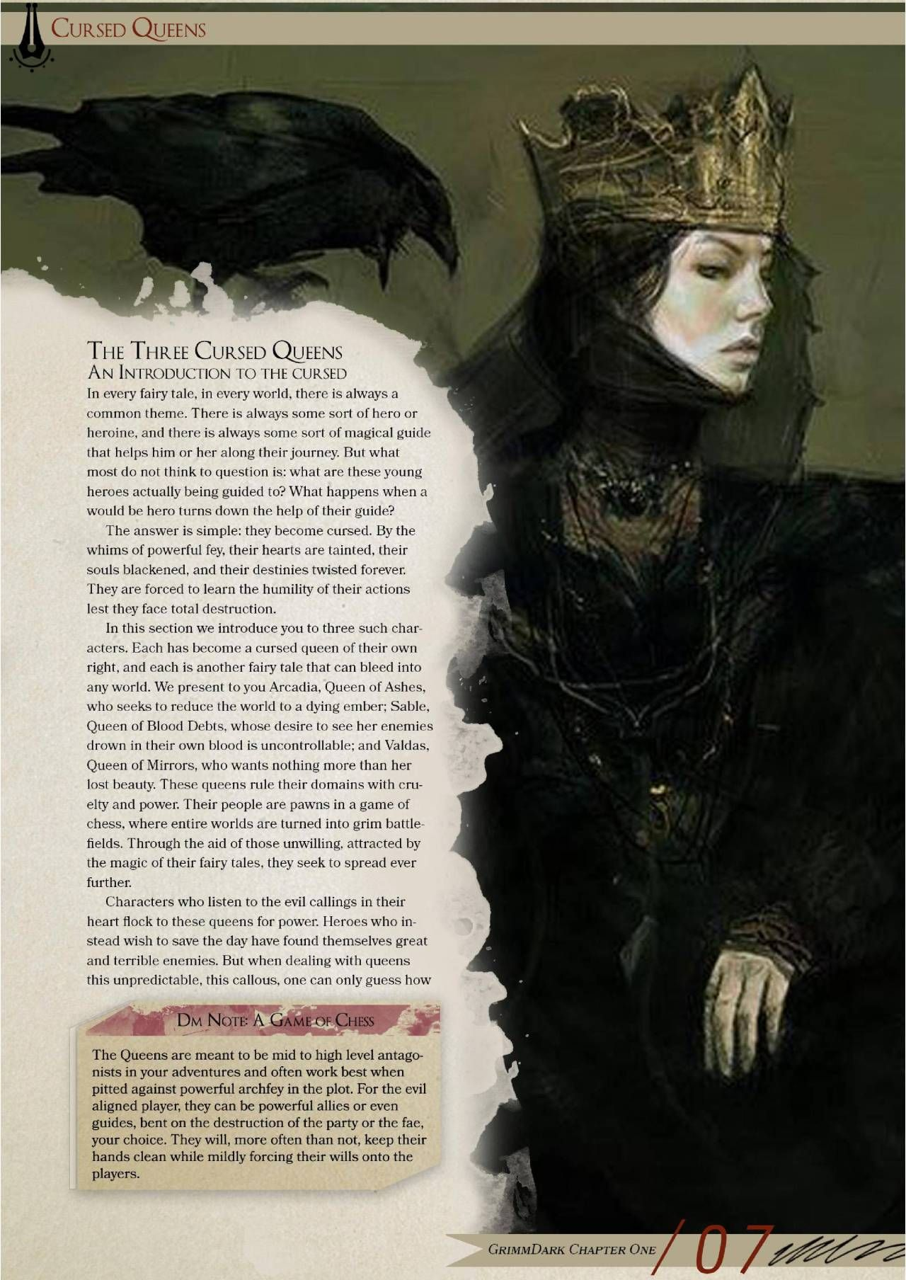 GrimmDark a Book of Fairy Tales arch fey Dungeons And Dragons