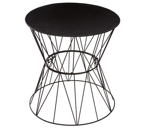bout de canap filaire jim noir crush d co bout de. Black Bedroom Furniture Sets. Home Design Ideas