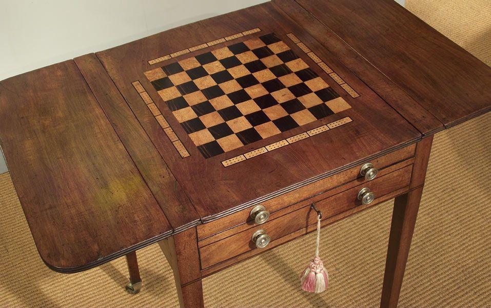 Antique Regency games table