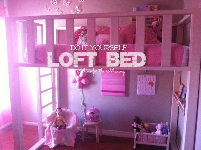 Luci S Bedroom Reveal Part 3 Diy Loft Bed Girls Loft Bed