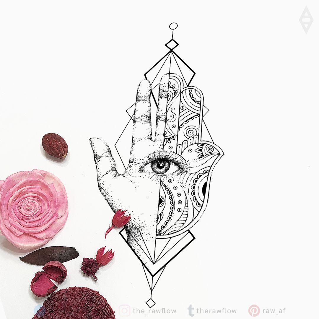 Hamsa Tattoo Hamsa Tattoo Hand Tattoos Tattoo Illustration